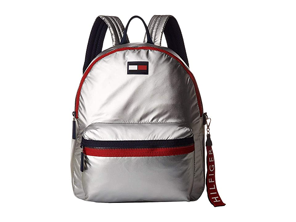 Tommy Hilfiger Leah Backpack (Silver) Backpack Bags