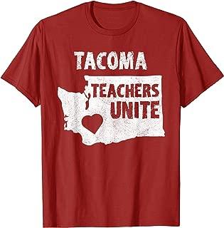 Red For Ed Tacoma Washington T-Shirt Public Teachers Union