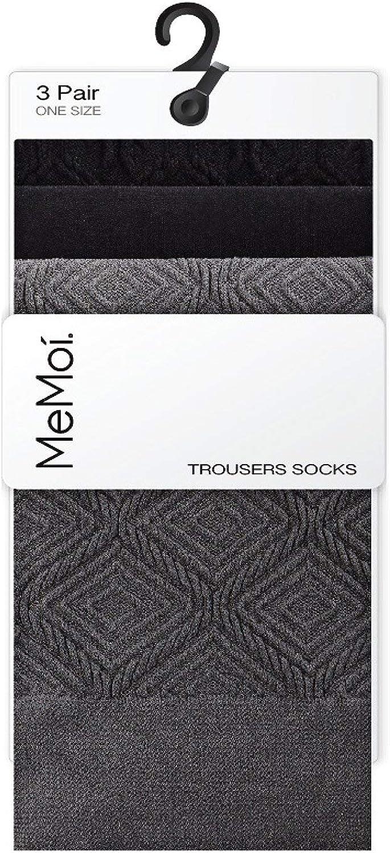 MeMoi Geometric Diamonds 3 Pr Trouser Socks