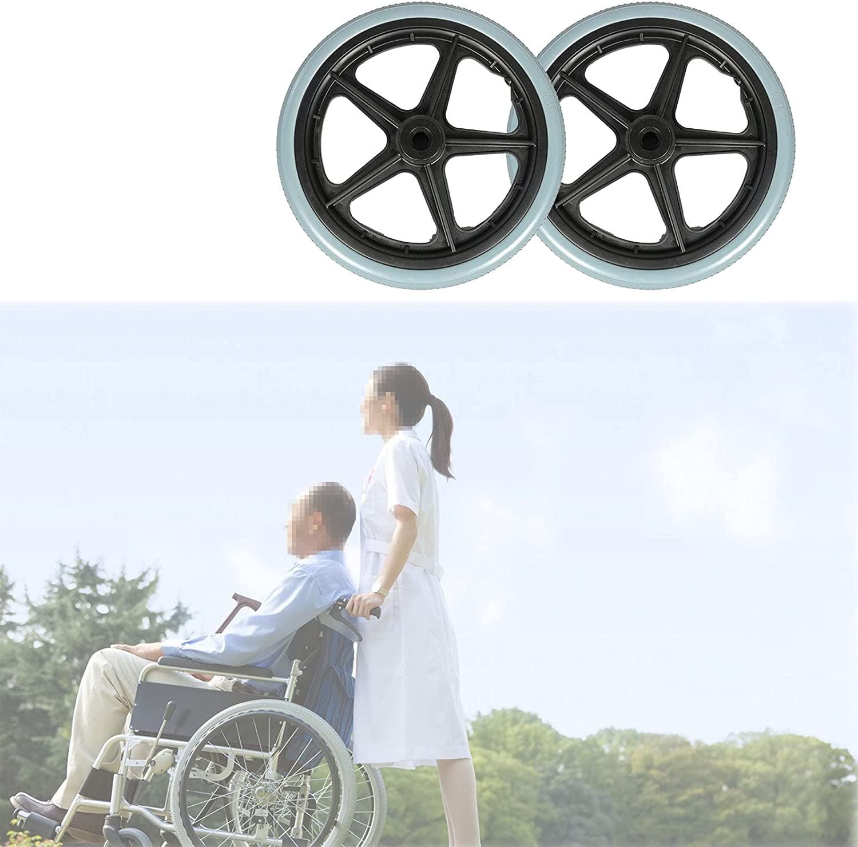 A-bize 2pcs Replacement Wheelchair Rear Wheel, Wheelchair Caster