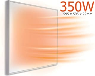 KIASA - Calentador de panel infrarrojo lejano - Calentador de techo o pared - Calentador eléctrico de baja energía para casa u oficina, 595x595x22mm