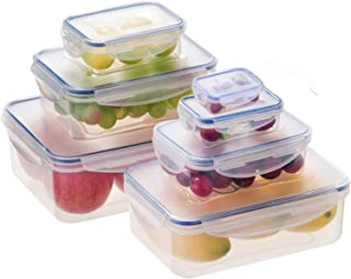Food Storage Container 14 Pieces Set Food Containers Airtight Leak Proof Stackable BPA Free Plactic for Meal Prep, Leftover, Lunch, Kitchen - Microwave/Diswasher/Frezzer Safe - Total 328oz