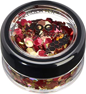 Mystic Chunky Glitter by Moon Glitter – 100% Cosmetic Glitter for Face, Body, Nails, Hair and Lips - 3g - Autumn