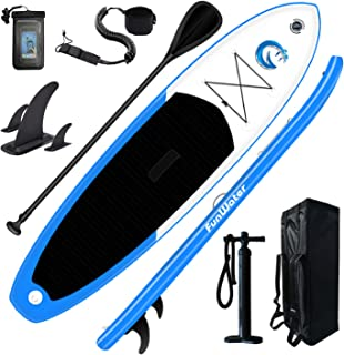 """FunWater All Round Paddle Board 11'Length 33"""" Width 6"""" Thick Inflatable Sup with Adjustable Paddle,ISUP Travel Backpack,Le..."""