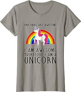 Womens Unicorns are Awesome Funny T-Shirt I'm a Unicorn Rainbow Tee