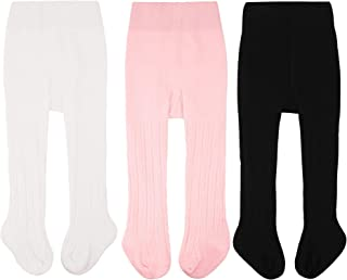 CozyWay Baby Girls Tights Cable Knit Leggings Stockings...