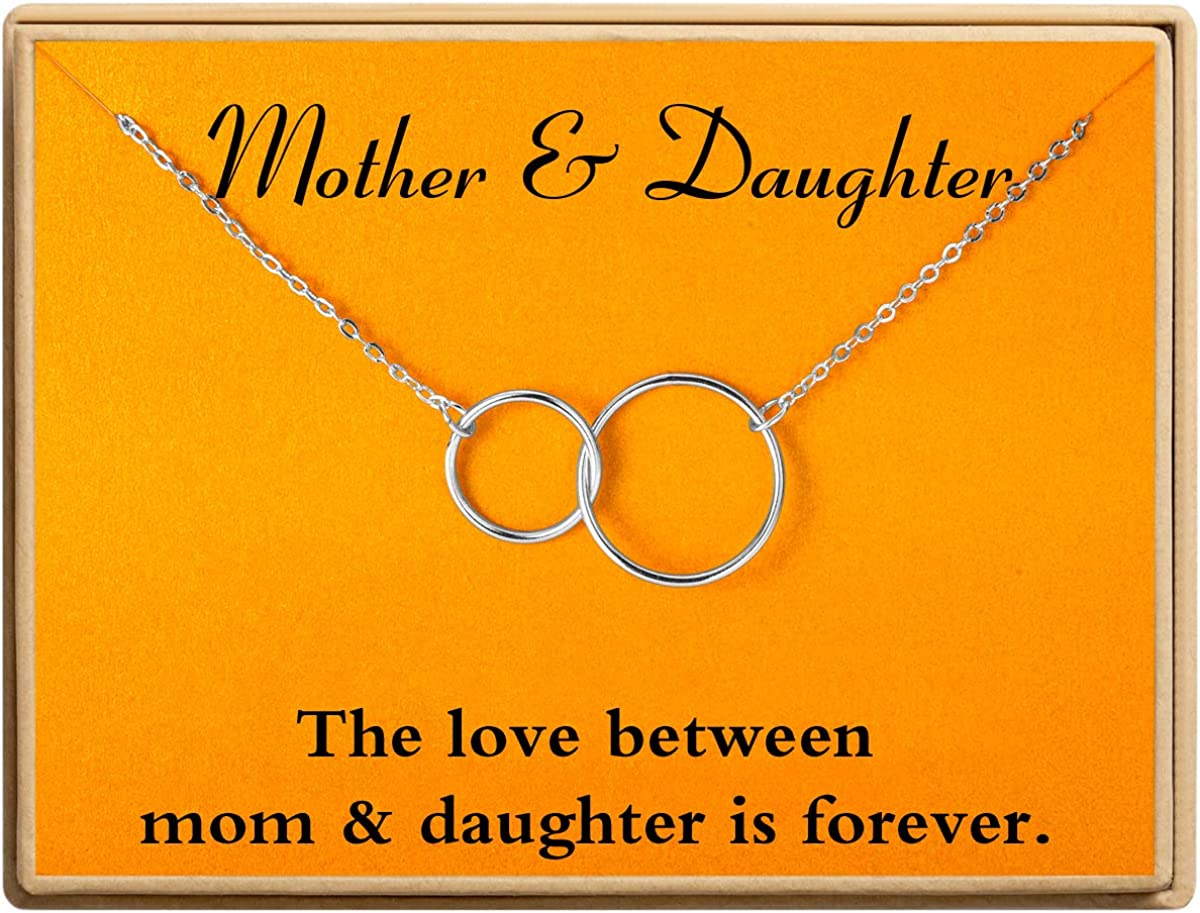 Ldurian Necklace Two Interlocking Infinity W 2 Award Large-scale sale Pendants Circles