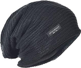 FORBUSITE メンズ帽子 ニットキャップ 大きいサイズのサマーニット帽 ビーニー ゆったり オールシーズン 男女兼用 B307