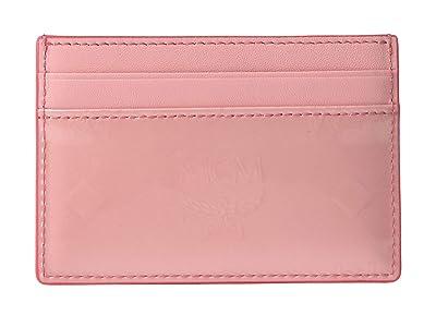 MCM Monogrammed Patent Card Case Mini (Quartz Pink) Coin Purse