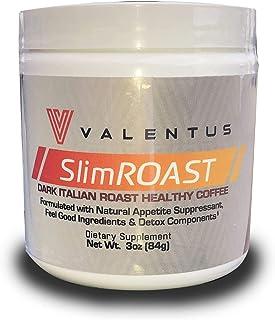 VALENTUS Slim Roast - Italian Dark Roast Coffee 3 Oz. Canister (24 Servings)