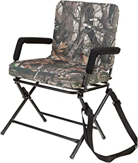 360° Swivel Chair - Silent Operation - Padded Hunting Chair with Arms - Strong Steel Legs - Next G2-15H x 18W x 15H inches - Camo