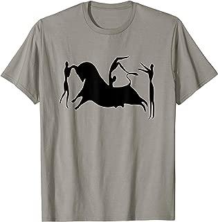 Fresco of Knossos T-Shirt Minoan Bull Minos Graphic Tee