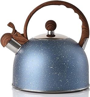 Tea Kettle - VONIKI 2.5 Quart Tea Kettles Stovetop Whistling Teapot Stainless Steel Tea Pots for Stove Top Whistle Tea Pot...