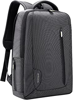 Slim Laptop Backpack, Anti Theft Durable Travel Business Backpack, Water Resistant College School Computer Bag for Women and Men, Lightweight Student Daypack Fits 15.6 Inch Laptop & Notebook