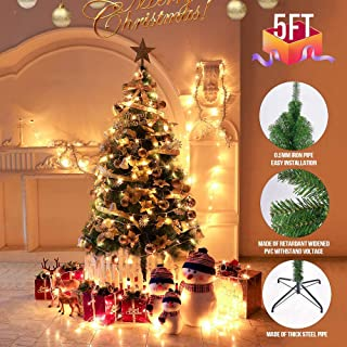ARTETHYS Artificial Christmas Tree - Xmas Pine Tree with Solid Metal Legs for Indoor and Outdoor (5 FT)