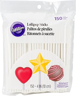 Wilton 1912-1001 4-Inch Lollipop Sticks, 150 Count
