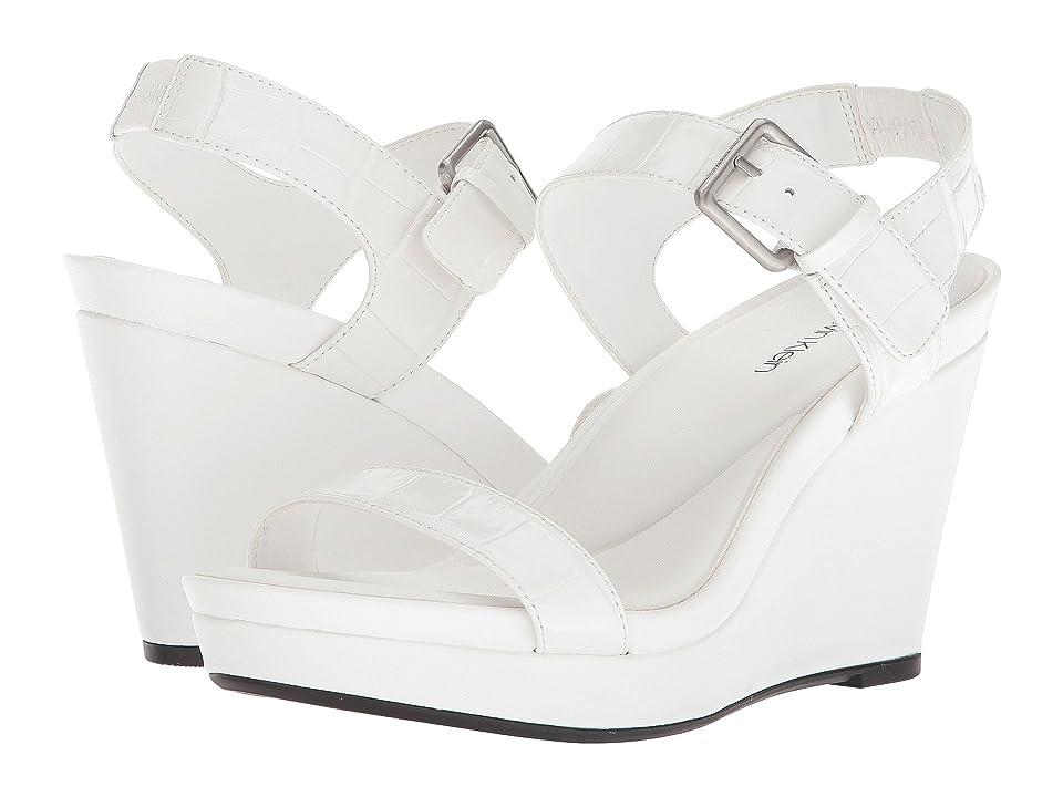 Calvin Klein Jacie Wedge Sandal (Platinum White) Women