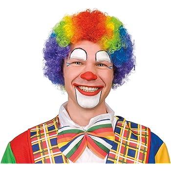 Bristol Novelty Rainbow Multicoloured Wig Curly Hair Kids Girls Boys Fancy Party Clown Costume Sports Mens Womens Amazon Co Uk Clothing