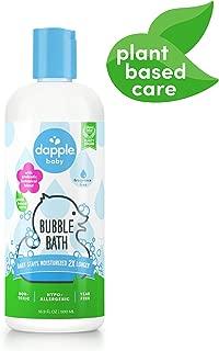 DAPPLE Baby Bubble Bath, Fragrance Free Bubble Bath for Kids, Sulfate-Free, Hypoallergenic, 16.9 Fluid Ounces