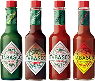 Tabasco Pepper Sauce 4 Flavour Selection 4 x 57ml bottles