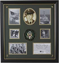 Allied Frame United States Army Medallion 7 Picture Collage Frame with Stars