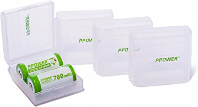 Ppower - Caja de Almacenamiento para 2 Pilas Rcr123 CR123a CR123 (Pilas no Incluidas) P-Power
