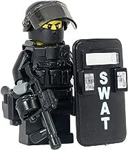 SWAT Police Riot Control Officer - Modern Brick Warfare Custom Minifigure