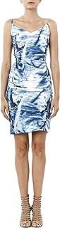 Nicole Miller Women's Faux Metal Carly Tuck Dress, blue/multi, 0