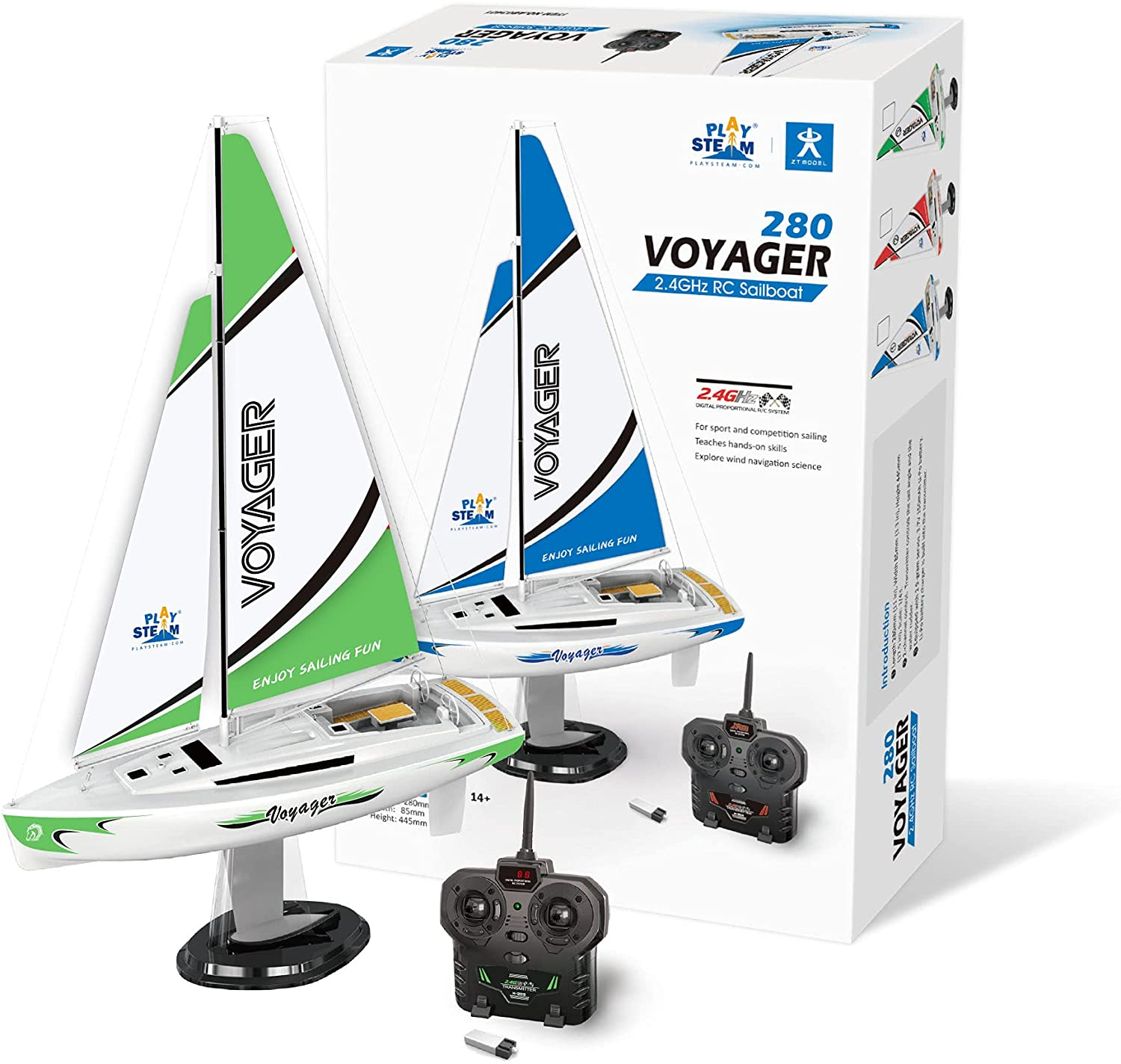 PLAYSTEAM Mini Voyager specialty SALENEW very popular! shop 280 RC Controlled i Powered Sailboat Wind