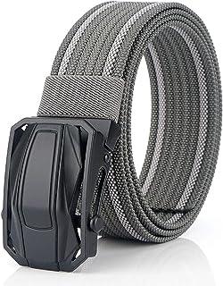 حزام تكتيكي للرجال، أحزمة منسوجة من القماش المرن من النايلون مع إبزيم سريع الفك لبنطلون جينز