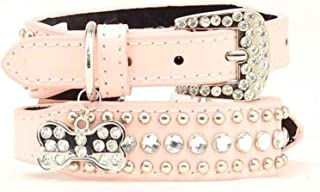 western bling leather dog collars