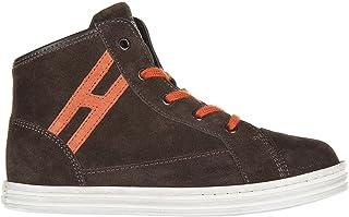 .Hogan Rebel Sneakers Alte r141 Bambino Marrone