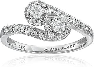 Keepsake Signature 14k White Gold Diamond Two-Stone Engagement Ring (1/2cttw, H-I Color, I1 Clarity)