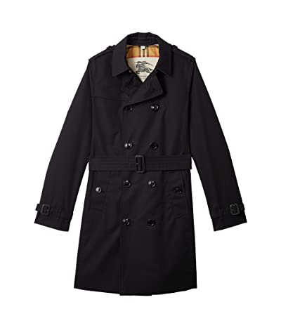 Burberry Kids Mayfair Coat (Big Kids) (Black) Girl