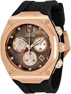 Invicta Men's JT Stainless Steel Quartz Watch with Silicone Strap, Black, 32.5 (Model: 32560)