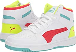 Puma White/High Risk Red/Blue Turquoise/Yellow Alert