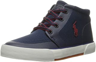 Polo Ralph Lauren Kids Kids' Faxon II SP Mid Nvy Msh/Red PP Sneaker