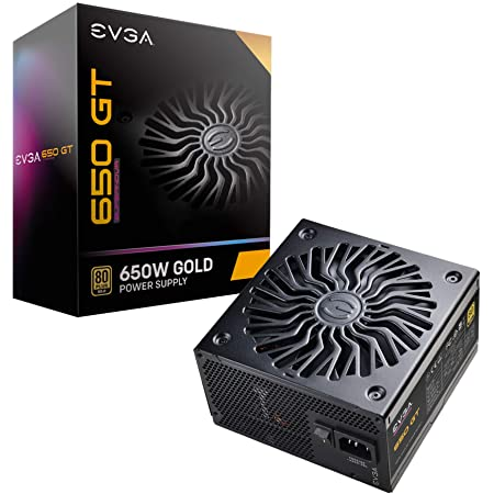 EVGA Supernova 650 GT, 80 Plus Gold 650W, Fully Modular, Auto Eco Mode with FDB Fan, 7 Year Warranty, Includes Power ON Self Tester, Compact 150mm Size, Power Supply 220-GT-0650-Y1