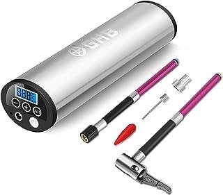 GHB Mini Compresor de Aire Inflador Eléctrico Bomba Eléctrica Portátil 150 PSI Recargable con Pantalla LCD - Color Plateado