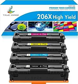 True Image Compatible Toner Cartridge Replacement for HP 206X 206A W2110X W2111X W2112X W2113X Color LaserJet Pro M255dw M...