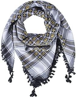 Merewill Cotton Shemagh Tactical Desert Wrap Keffiyeh Head Neck Arab Scarf for Men 49