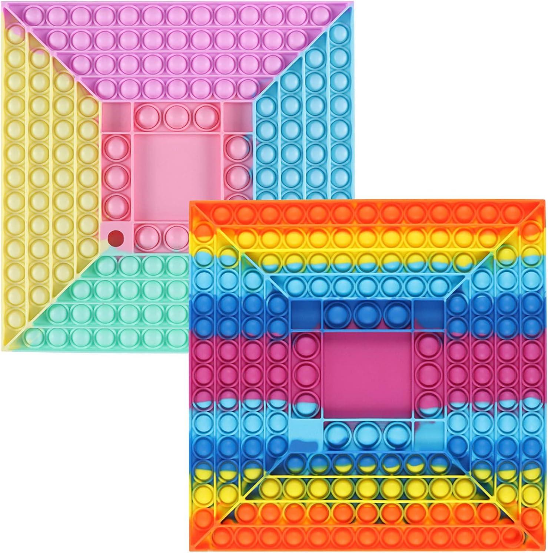Hodudu Big Portland Mall Size Push Max 53% OFF Pop Game Toy 13inch Silicone Fidget Rainbow