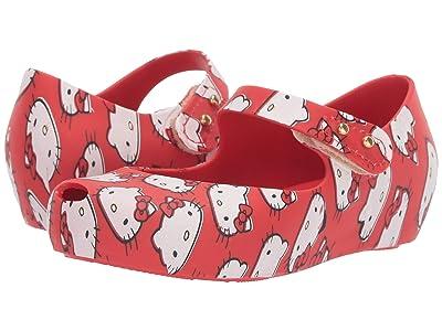 Mini Melissa Ultragirl + Hello Kitty (Toddler/Little Kid) (Red) Girl