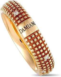 Damiani Metropolitan 18K Rose Gold 9 Diamonds Textured Band Ring
