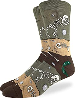 Men's Dinosaur Fossil Layers Socks - Brown, Adult Shoe Size 7-12