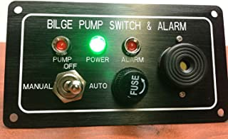 Pactrade Marine Boat Bilge Alarm Pump Switch Aluminum Plate Manual Automatic