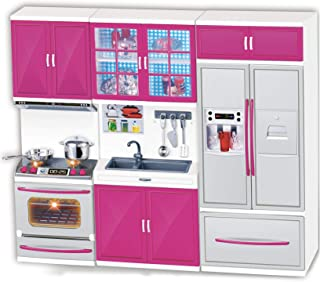 Liberty Imports My Modern Kitchen Mini Toy Playset w/ Lights and Sounds, Perfect for 11-12