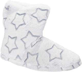 Slumberzzz Womens/Ladies Star Embossed Bootee Slippers (UK Size: 5/6 UK) (Blue)
