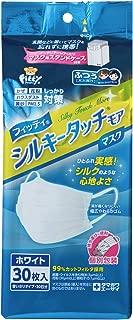 (個別包装) フィッティ シルキータッチモア マスク エコノミーパックケース付 30枚入 ふつうサイズ ホワイト PM2.5対応