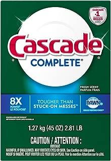 Cascade Complete Dawn Fresh Scent Dishwasher Detergent Powder, 45 Ounce